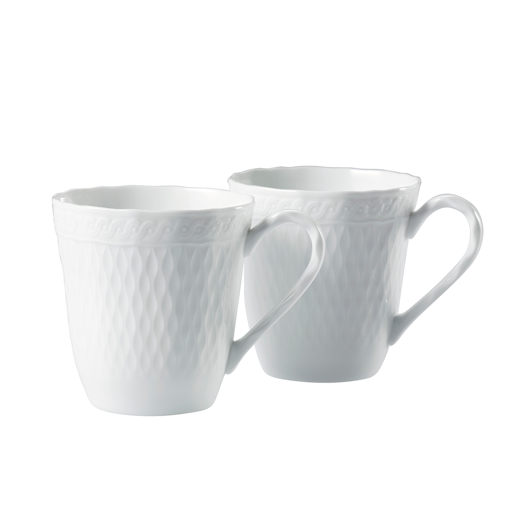 cher blanc small mug pair set noritake australia pty ltd. Black Bedroom Furniture Sets. Home Design Ideas