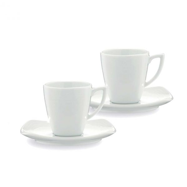 Arctic White Espresso Set for 2