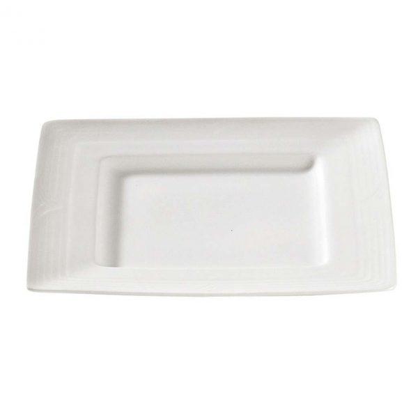 Arctic White Square Plate L