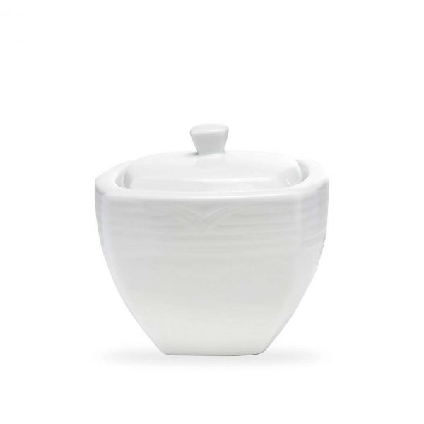 Arctic White Square Sugar Bowl