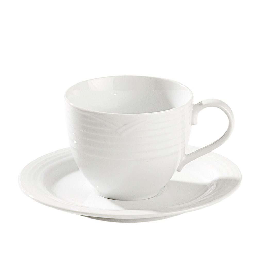 Noritake Casual Dinnerware Arctic White Tea Cup And Saucer Set
