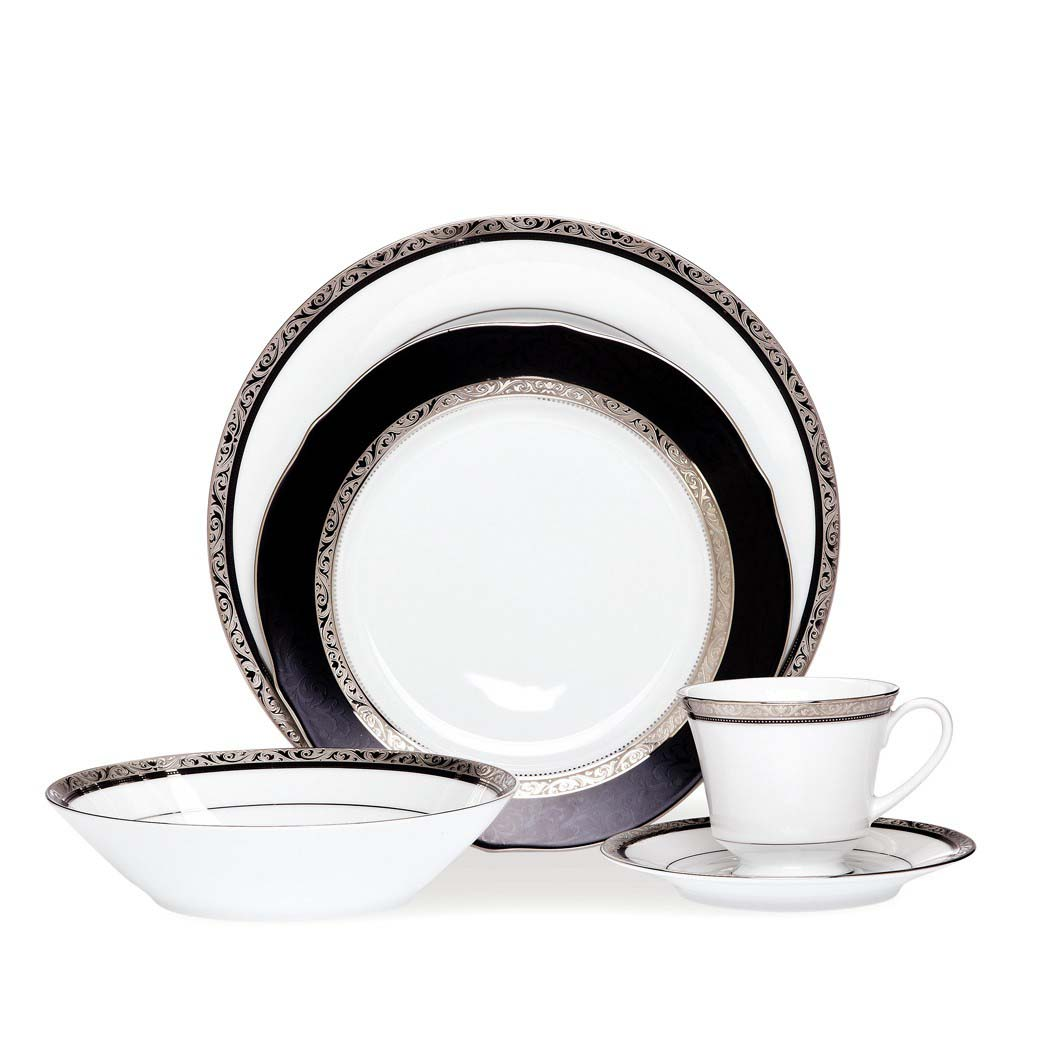 Regent Platinum 20pce Dinner Set  sc 1 st  Noritake & Noritake | Formal Dinnerware | Regent Platinum 20pce Dinner Set