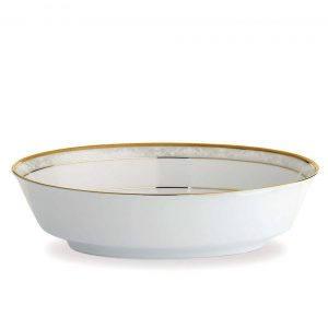 Hampshire Gold Oval Serving Bowl