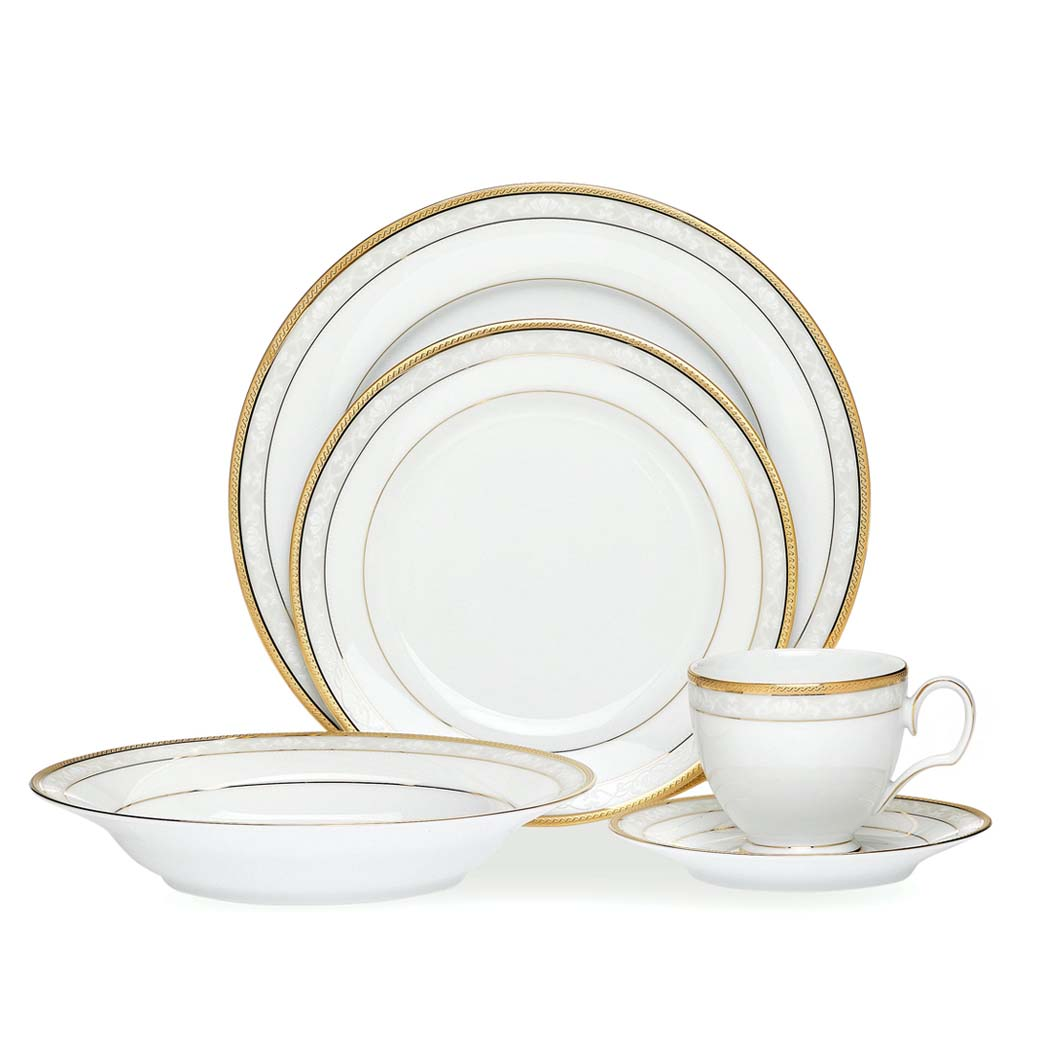 H&shire Gold 20pce Dinner Set  sc 1 st  Noritake & Noritake | Formal Dinnerware | Hampshire Gold 20pce Dinner Set