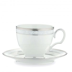 Hampshire Platinum Tea Cup & Saucer Set