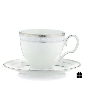 Hampshire Platinum Cup & Saucer Set (Giftboxed)