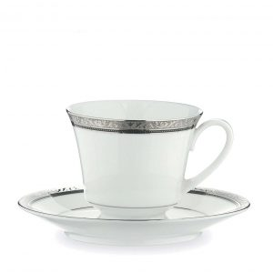 Regent Platinum Tea Cup & Saucer Set