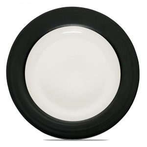 Colorwave Graphite Rim Dinner Plate