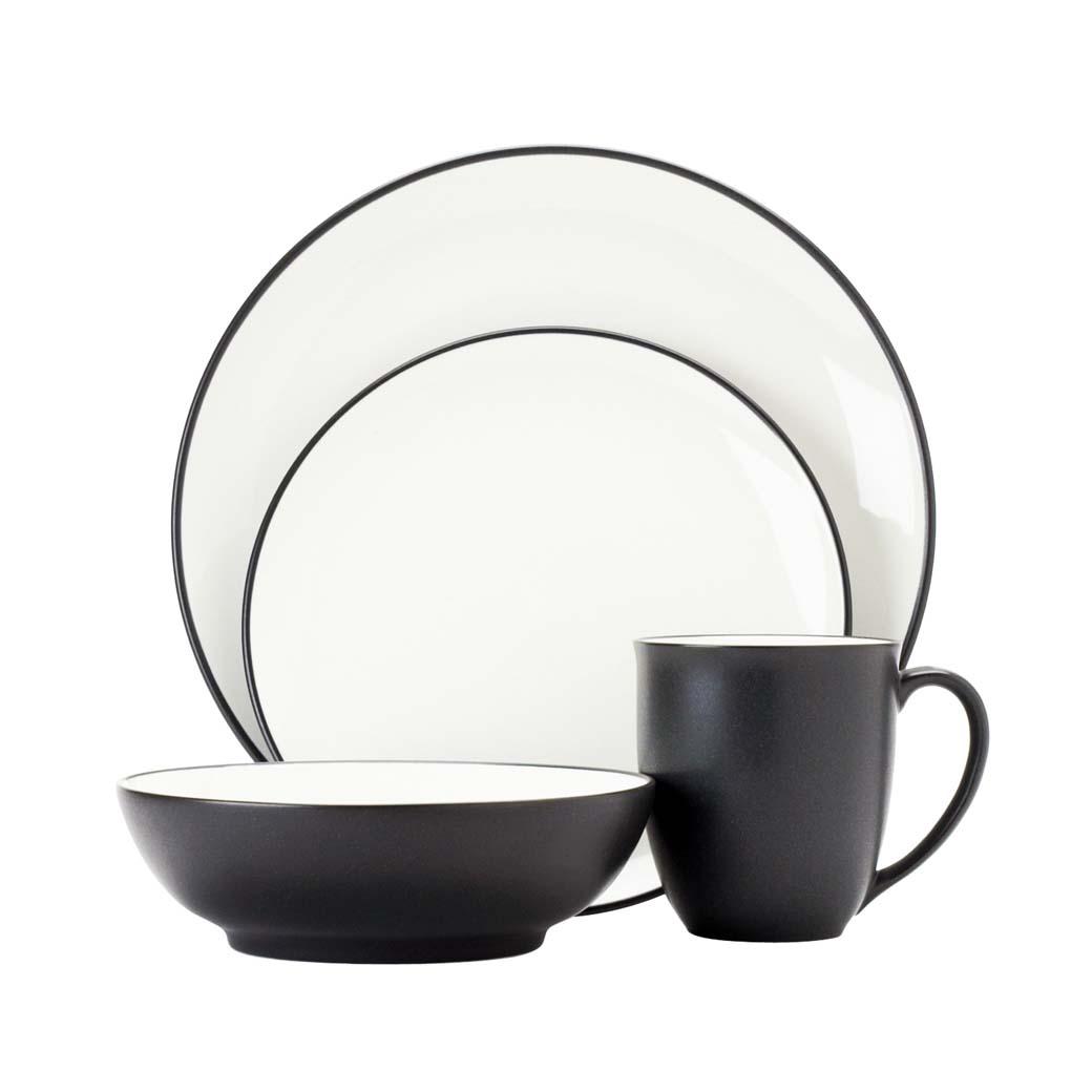 Noritake Casual Dinnerware Colorwave Graphite 16pce Dinner Set