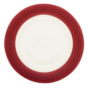 Colorwave Raspberry Rim Dinner Plate