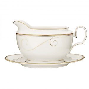 Golden Wave Gravy Boat