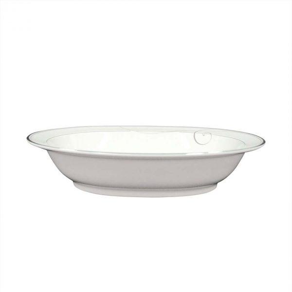 Platinum Wave Oval Serving Bowl