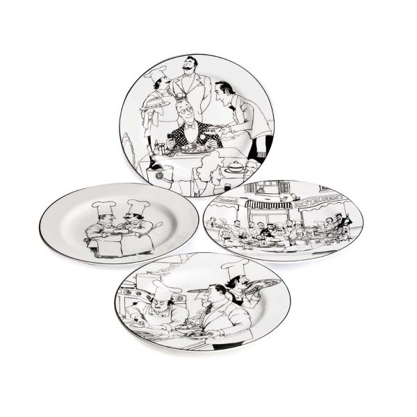 Le Restaurant Entree Plate Set of 4