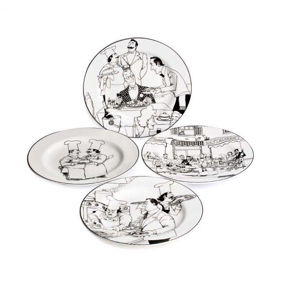 Le Restaurant Entree Plate Set of 4
