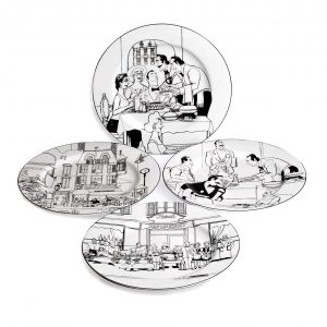 Le Restaurant Dinner Plate Set of 4