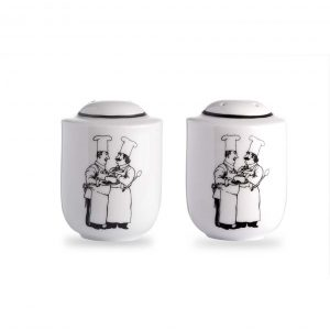 Le Restaurant Salt and Pepper Shakers