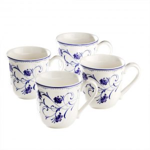Rhapsody Blue Mug Set of 4