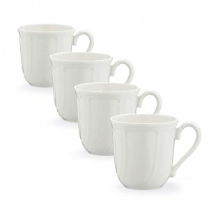 Baroque White Mug Set of 4