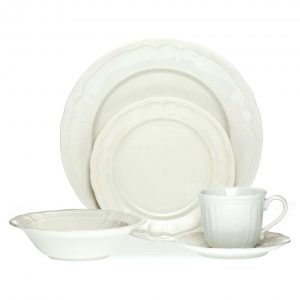 Baroque White 20pce Dinner Set