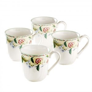 Floral Bay Mug Set of 4
