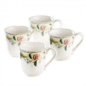 Floral Bay Mug Set of 4