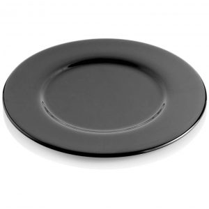 Aria Black Charger Plate