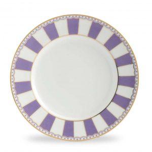 Carnivale Lavender Cake Plate Set of 2