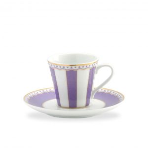 Carnivale Lavender A.D. Espresso Cup & Saucer Set