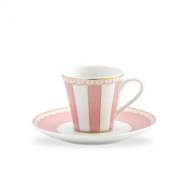 Carnivale Pink A.D. Espresso Cup & Saucer Set