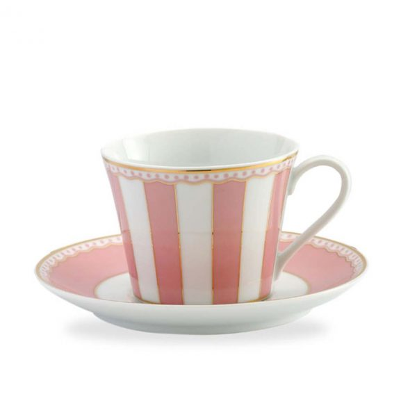 Carnivale Pink Cup & Saucer Set