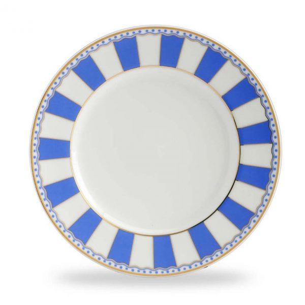 Carnivale Dark Blue Cake Plate Set of 2