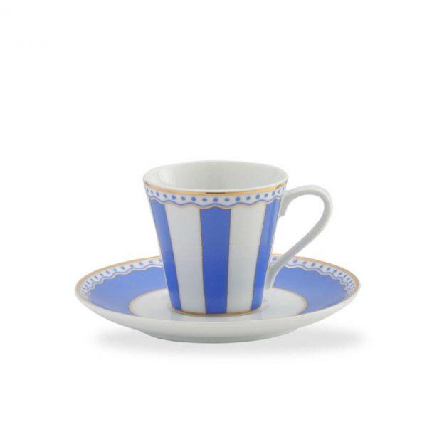 Carnivale Dark Blue A.D. Espresso Cup & Saucer Set