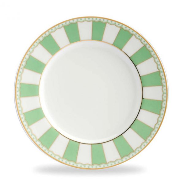 Carnivale Apple Green Cake Plate Set of 2