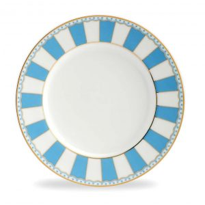 Carnivale Light Blue Cake Plate Set of 2