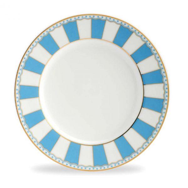 Carnivale Light Blue Cake Plate Set of 2