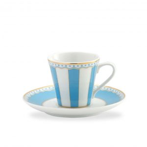 Carnivale Light Blue A.D. Espresso Cup & Saucer Set
