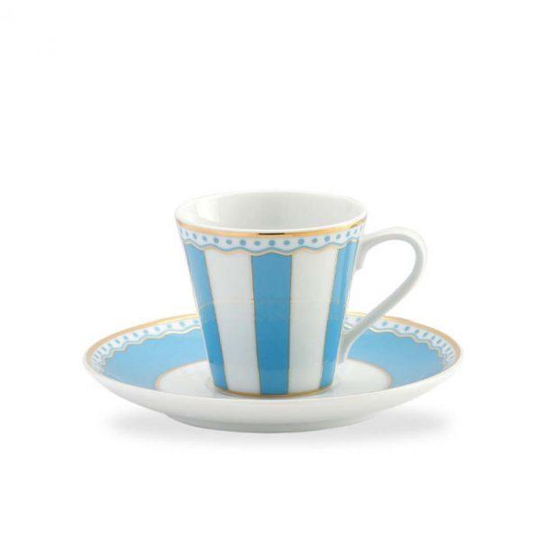 Carnivale Light Blue A.D. Espresso Cup & Saucer Set