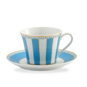 Carnivale Light Blue Cup & Saucer Set