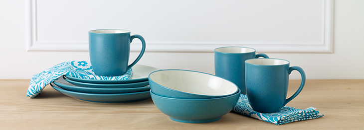 Noritake | Casual Dinnerware | Colorwave Turquoise 16pce Dinner Set