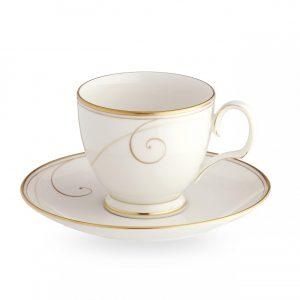 Golden Wave Tea Cup & Saucer